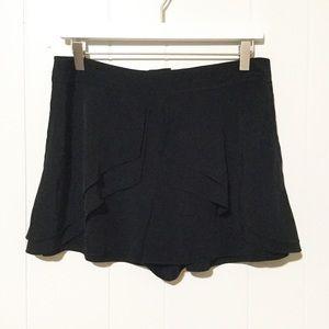 Tibi Black 100% Silk Ruffle Layer Shorts ▪️